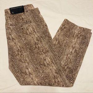 BANANA REPUBLIC Snake Print Ankle Trousers